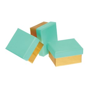 """Aqua/Gold"", Mini Box"