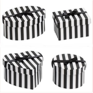 """Candy Stripe Black/White"" 4 assorterte"