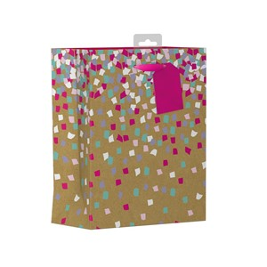 """Female Kraft Confetti"" Gavepose medium"