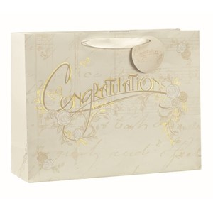 """Congratulations Gold"" Gavepose medium"