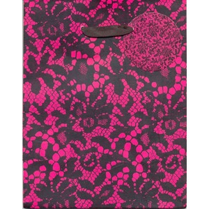 """Cerise Pink & Black Lace"", Gavepose small"