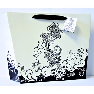 """Black Floral Vase"" Gavepose shopper"