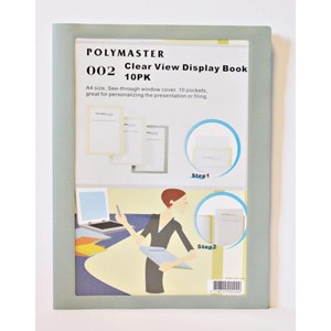 Clear View Display Book, 2 ass farger