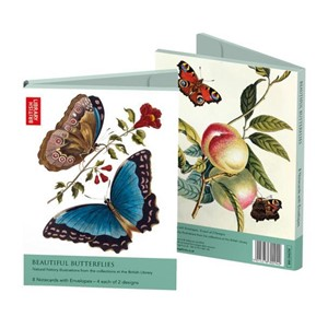 """Beautiful Butterflies"" Rectangle Notecards"
