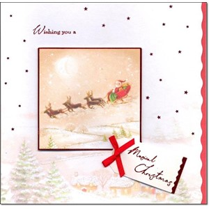 """Santa & Sleigh"", 8 Luxury Christmas Cards,"