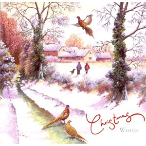 """Winter Scene"", 10 Luxury Christmas Card, 2"