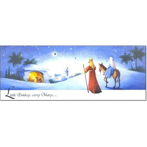 """Religious - Slim"", 12 Slim Christmas Card,"