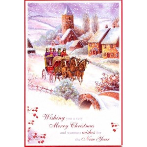 """Horse & Cart"", 8 Luxury Christmas Card, 2 a"