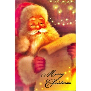 """Traditional Santa"", 8 Luxury Christmas Card"