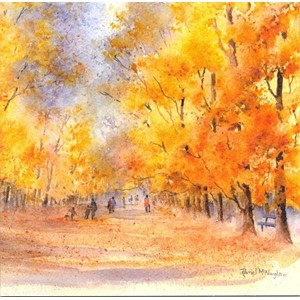 """Autumn in the Park"", Art by Rachel"