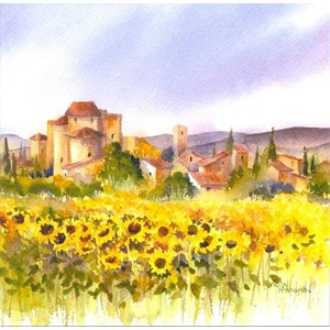 """Sunflower Field"", Art by Rachel"