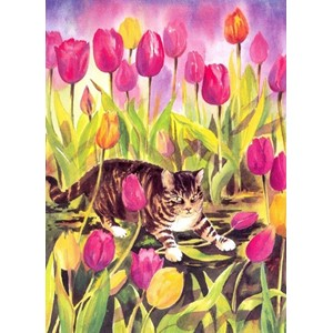 """Booley in the Tulips"", Mariana-Art"