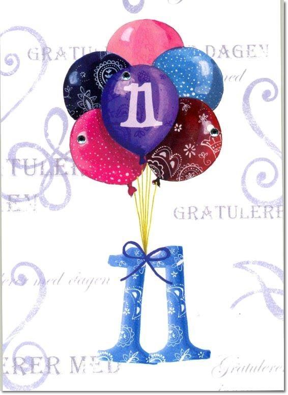 gratulerer  11  u00e5r  ballonger