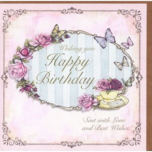 """Wishing You Happy Birthday - Rose in a Tea Cup{[quo"