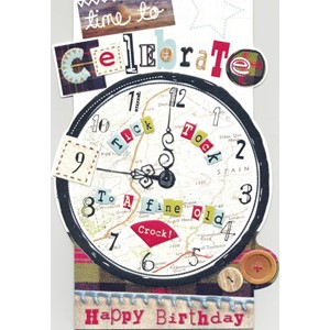 """Clock"", Sew & Sew Card"