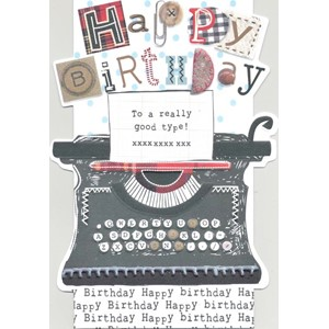 """Typewriter"", Sew & Sew Card"