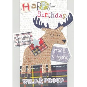 """Stag"", Sew & Sew Card"