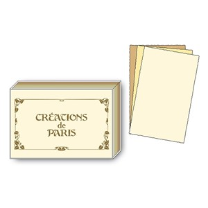 "Notecards ""Creations de Paris"" 12/12 ass. kort"
