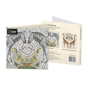 """Natural History Museum - African Savannah"" Notecards (8/8)"