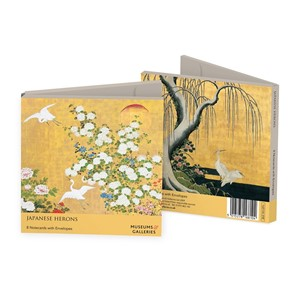 """Japanese Herons"" Notecards 8/8"