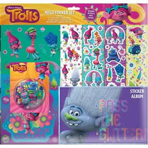 """Trolls"" Mega Sticker Set"