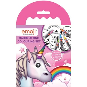 """Emoji Unicorn"" Carry-Along Colouring Set"