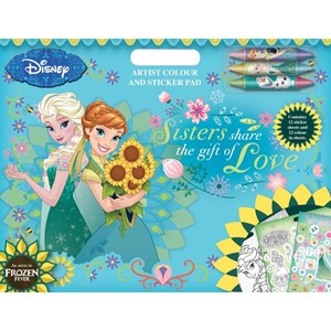 """Frozen Fever"" Artist Colour & Sticker Pad{["