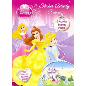 """Princess"", Sticker Activity Scenes"