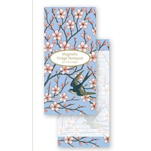 """Almond Blossom and Swallow"" Magnetic To-do"