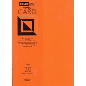 """Vivid Card - Orange"", A4, 170 gram, 20 ark"