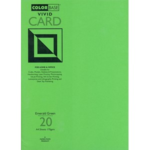 """Vivid Card - Emerald Green"", A4, 170 gram, 20 ark"