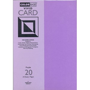 """Vivid Card - Purple"", A4, 170 gram, 20 ark"
