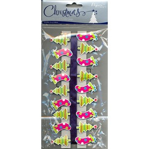 """18 Novelty Card Holder Pegs"", incl 2m of Ri"