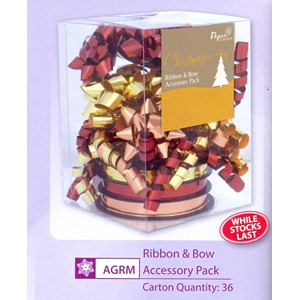 """Ribbon & Bow Accessory Pack"", Gold/Copper"