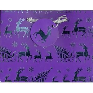 """Reindeer (Purple)"", Gavepose large"