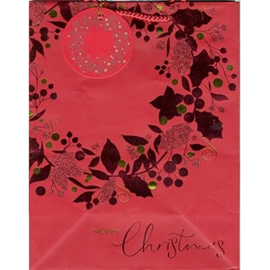 """Red Wreath with Glitter"", Gavepose large"