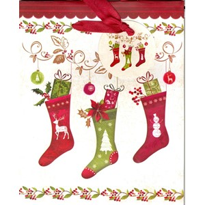 """Christmas Stockings"", Gavepose medium"