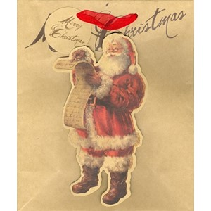 """Victorian Santa"" Gavepose medium"