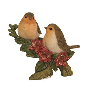 """Christmas Robin Decor"" 10 cm."