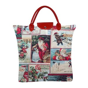 "Fold Away Shopping Bag ""Christmas Santa"""