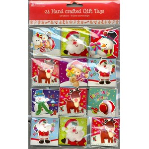 """Cute, 24 Handcrafted Gift Tags"", 8 assorter"