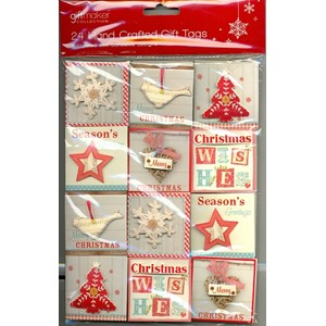 """24 Handcrafted Gift Tags Nordic"""