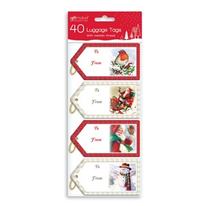 """40 Traditional Luggage Tags"""