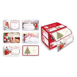 """150 Traditional Self Adhesive Gift Labels"""