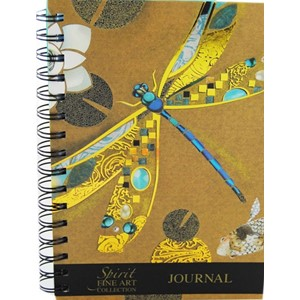"""Spirit Dragonfly"", A5 Wiro Notebook Lined"