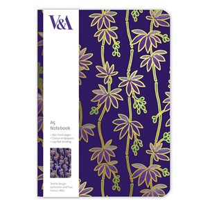 """Purple Flowers"" A5 Luxury Notebook"