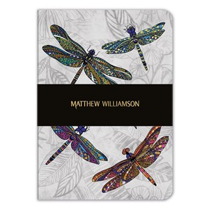 """Dragonfly Dance"" A5 Luxury Notebook"