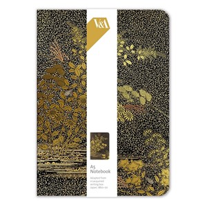 """Golden Leaves Writing Box"" A5 Luxury Notebook"