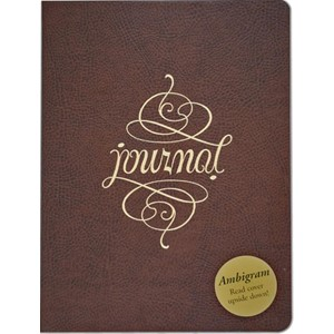 """Ambigram"" Bonded Leather Journal"