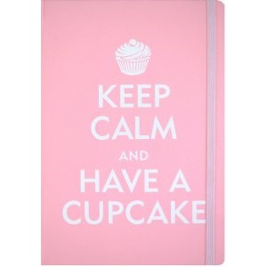 """Keep Calm and Have a Cupcake"" Small Journal"